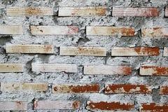 pared Blanco-marrón de los ladrillos para el fondo Imagen de archivo