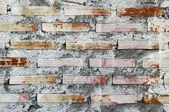 pared Blanco-marrón de los ladrillos para el fondo Fotografía de archivo libre de regalías