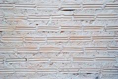 pared Blanco-rosada de los ladrillos para el fondo Imagenes de archivo