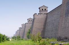 Pared china antigua de la ciudad Foto de archivo libre de regalías