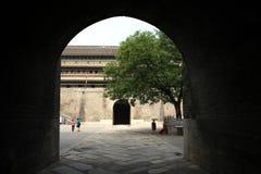 Pared china y puerta de la ciudad antigua en Manuelbianconi Imágenes de archivo libres de regalías