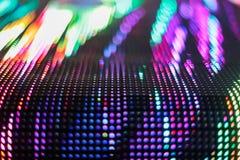 Pared coloreada brillante del smd del LED con la esquina Imagen de archivo libre de regalías