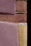 Pared coloreada de la casa imagen de archivo