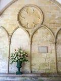 Pared con el chaleco en la catedral de Salisbury imagen de archivo libre de regalías
