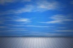 Pared con el cielo Foto de archivo libre de regalías