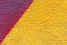 Pared con la pintura amarilla colorida del modelo de la pintura Foto de archivo libre de regalías
