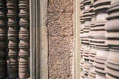 Pared con las columnas Imagen de archivo libre de regalías