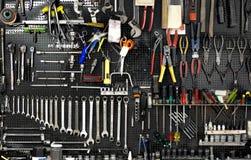 Pared con las herramientas Foto de archivo libre de regalías