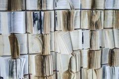Pared con un libro abierto Imagen de archivo libre de regalías