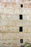 Pared constructiva abandonada Foto de archivo libre de regalías