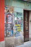 Pared cubierta por graffity Foto de archivo