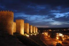 Pared de Ávila Foto de archivo libre de regalías