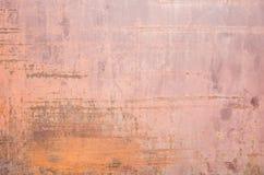 Pared de acero oxidada vieja Foto de archivo libre de regalías