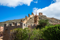 Pared de Albarracin, España Fotos de archivo