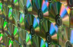Pared de arco iris CD imagenes de archivo