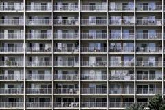 Pared de balcones Imagen de archivo libre de regalías