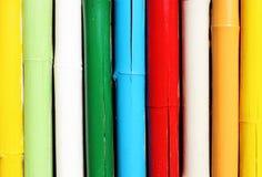 Pared de bambú colorida fotos de archivo