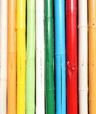 Pared de bambú colorida Imagen de archivo libre de regalías