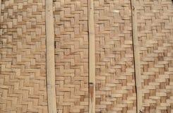 Pared de bambú de mimbre Fondo, textura Imagenes de archivo
