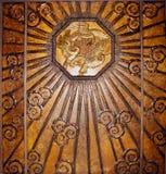Pared de bronce del art déco Imágenes de archivo libres de regalías