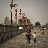 Pared de centro de ciudad de Xian, China Foto de archivo libre de regalías