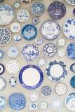 Pared de cerámica decorativa Fotografía de archivo libre de regalías