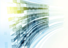 Pared de cristal azul moderna del edificio de oficinas stock de ilustración