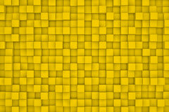 Pared de cubos amarillos abstraiga el fondo Imagenes de archivo