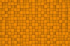 Pared de cubos anaranjados abstraiga el fondo Fotos de archivo libres de regalías
