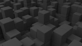 Pared de cubos grises Foto de archivo libre de regalías