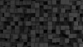 Pared de cubos grises Fotos de archivo