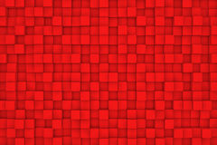 Pared de cubos rojos Imagen de archivo libre de regalías