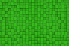Pared de cubos verdes Fotografía de archivo libre de regalías
