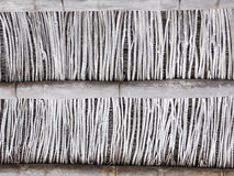 Pared de división hecha de bambú Foto de archivo libre de regalías