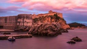 Pared de Dubrovnik Imagenes de archivo