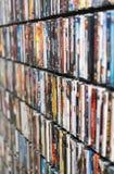 Pared de DVD foto de archivo libre de regalías