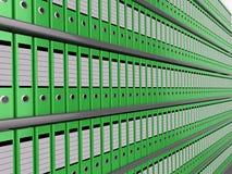 Pared de ficheros Imagen de archivo
