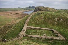 Pared de Hadrian Imagen de archivo libre de regalías