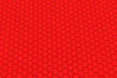 Pared de hexágonos rojos Fotografía de archivo libre de regalías