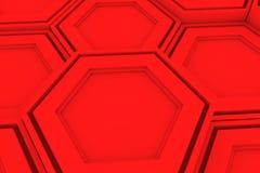 Pared de hexágonos rojos Foto de archivo libre de regalías