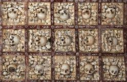 Pared de huesos humanos Fotos de archivo libres de regalías