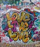 Pared de Juan Lennon Imagen de archivo