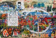 Pared de Juan Lennon Foto de archivo libre de regalías