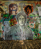 Pared de Juan Lennon Fotografía de archivo