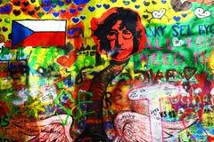Pared de Juan Lennon en Praga Fotografía de archivo libre de regalías