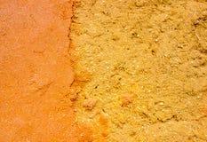 Pared de la arcilla y de la arena con diversa textura Fotos de archivo libres de regalías