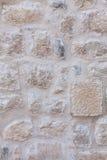 Pared de la casa hecha de piedra natural Foto de archivo libre de regalías