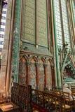 Pared de la catedral de Amiens de Notre Dame en Picardía Francia fotografía de archivo libre de regalías