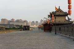 Pared de la ciudad antigua provincia de Xi'an, Shaanxi, China foto de archivo