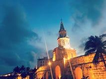 Pared de la ciudad de Cartagena Fotografía de archivo libre de regalías